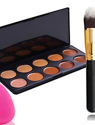 billige -10 farver Makeupbørster Pulver Puff Klassisk Daglig Makeup Kosmetiske