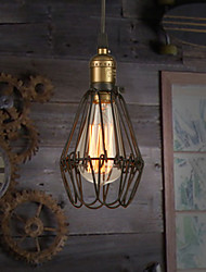 cheap -Pendant Lights Bulb Included Vintage American country style restoring ancient ways, wrought iron small cage droplight