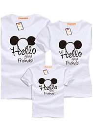 cheap -summer clothing family matching outfits O-neck cotton short sleeve Tshirt