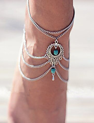cheap -Turquoise Anklet - Emerald, Turquoise Drop Unique Design, Bohemian, Fashion For Wedding / Daily / Casual / Women's