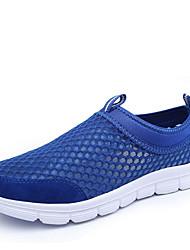 Homens sapatos Tule Primavera Verão Outono Solados com Luzes Conforto Corrida para Cinzento Preto Marrom Azul Claro Azul Real