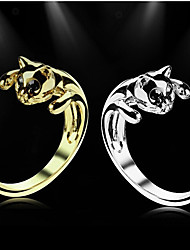 cheap -Men's Statement Ring - Alloy Fashion 7 / 8 Silver / Golden For Wedding / Party / Daily / Casual