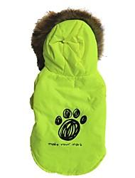 preiswerte -Katze Hund Mäntel Kapuzenshirts Hundekleidung Lässig/Alltäglich Buchstabe & Nummer Grün Kostüm Für Haustiere