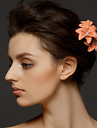 billige -Krystal / Stof / polyester Tiaras / Hair Pin med 1 Bryllup / Speciel Lejlighed / Fest / aften Medaljon / Legering