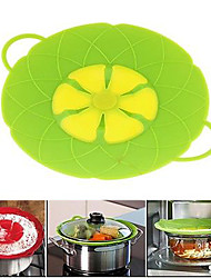 cheap -Cooking Tools Flower Silicone lid Spill Stopper Silicone Cover Lid For Pan (Random Color)