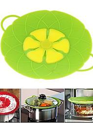 outils cuisson fleur silicone couvercle déversement bouchon couvercle de couvercle en silicone pour pan (de couleur aléatoire)