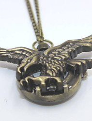 Vintage Eagle Shaped Pocket Watch Sweater Necklace