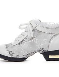 Женская обувь - Кожа/Кружево - Номера Настраиваемый ( Черный/Белый ) - Танцевальные кроссовки