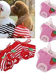 Kat Hund Bukser Hundetøj Cosplay Bryllup Sløjfeknude Polka Prikker Rød Lys pink Kostume For kæledyr