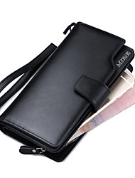 Men's Wallets Leather Purses  Wallets Wrist  Clutch Purse Cowhide Bi-fold Clutch Card & ID Holder