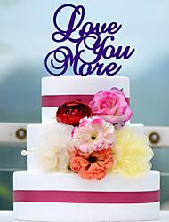 Love You More Acrylic Wedding Cake Topper