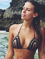 Damen Gestreift Sexy Strand Tank Tops,Tiefes V Sommer Ärmellos Schwarz Dünn
