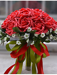 """Недорогие -Свадебные цветы Букеты Свадьба Полиэстер Satin пена 10,24""""(около 26см)"""