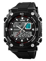 Недорогие -SKMEI Мужской Спортивные часы Наручные часы LCD Календарь Секундомер Защита от влаги С двумя часовыми поясами тревога Спортивные часы