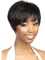 cheap -Short Synthetic Hair Hair Extension Straight Classic Hair weave 1pc Other Daily High Quality Women's Human Hair Extensions Synthetic Wig