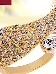 Band Rings Alloy Cubic Zirconia Simulated Diamond Wings / Feather Fashion Screen Color Jewelry Party 1pc