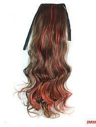 economico -Ondulato naturale Capelli sintetici Pezzo di capelli Estensione capelli 18 pollici Arcobaleno