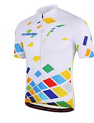 baratos -GETMOVING Camisa para Ciclismo Homens Mulheres Unisexo Manga Curta Moto Camisa/Roupas Para Esporte Blusas Secagem Rápida Design Anatômico