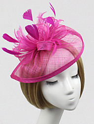 cheap -Feather Net Fascinators Flowers 1 Wedding Special Occasion Headpiece