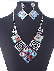 cheap -Women's Jewelry Set Earrings / Necklace - Vintage / Party / Work Screen Color Jewelry Set For Party