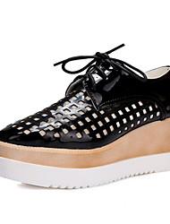 baratos -Mulheres Sapatos Courino Outono / Inverno Salto Plataforma Prata / Rosa claro / Dourado
