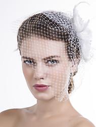 Donne Piume Tessuto A rete Copricapo-Matrimonio Occasioni speciali Casual Veli corti 1 pezzo