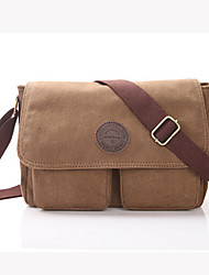 cheap -Men 's Canvas Messenger Shoulder Bag - Brown