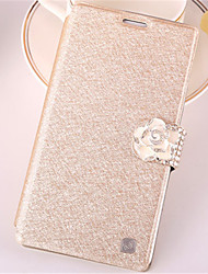 cheap -For Samsung Galaxy Note7 Card Holder / Rhinestone / with Stand / Flip Case Full Body Case Glitter Shine PU Leather SamsungNote 7 / Note 5