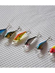 economico -6 pc Esche rigide Pesciolini Confezioni di esche Esca Pesciolini Confezioni di esche Esche rigide Arancione Rosa Giallo Blu Azzurro chiaro