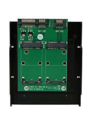 Недорогие -maiwo 2xSATA в 2xmsata преобразователь интерфейса карты карты kt007b