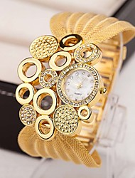 cheap -Women Watches Gold Watch Women Fashion Alloy Crystal Bracelet Quartz Watch Montre Femme Cool Watches Unique Watches