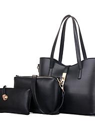 baratos -Mulheres Bolsas PU Tote / Conjuntos de saco / Bolsa de Ombro 3 Pcs Purse Set para Compras / Formal / Escritório e Carreira Azul / Rosa