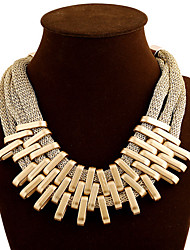 MPL The fashion trend of multilayer golden tassels cotton rope necklace