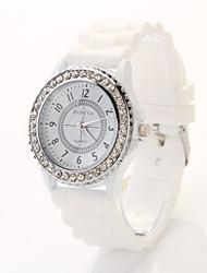 Недорогие -t.watch женщин / мужчин стали группа аналоговый кварцевый случайные часы