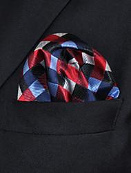 cheap -UH2 Shlax&Wing Checked Red Blue Handkerchiefs Pocket Square Hankies Hanky