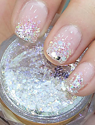 cheap -Hexagonal Glitter Tablets Nail Art Decorations