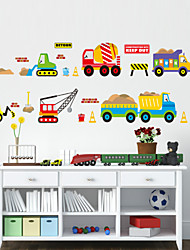cheap -Shapes Cartoon Transportation Wall Stickers Plane Wall Stickers Decorative Wall Stickers, PVC Home Decoration Wall Decal Wall