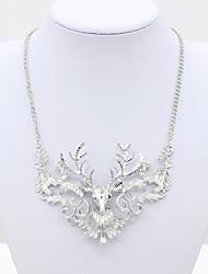 Dame Halskædevedhæng Krystal Rhinsten Imitation Diamond 18K guld Østrig Crystal Mode Europæisk Sølv Gylden Smykker For