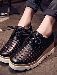 Women's Shoes Wedge Heel Square Toe Hollow Out Fashion Sneakers