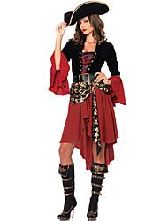 abordables -Pirate Costumes de Cosplay Costume de Soirée Féminin Fête / Célébration Déguisement d'Halloween Halloween Carnaval Mosaïque