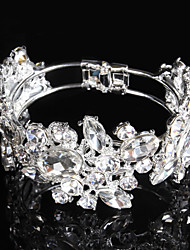 Women's Tennis Bracelet Rhinestone Silver Plated Bridal Silver Jewelry 1 pair