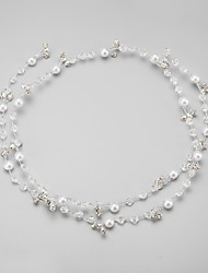 Imitation Pearl Rhinestone Alloy Headbands Headpiece