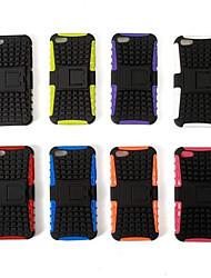 billiga -DE JI fodral Till iPhone 5 / Apple iPhone 5-fodral Stötsäker / med stativ Skal Rustning Hårt TPU för iPhone SE / 5s / iPhone 5