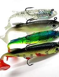 cheap -4pcs Soft Baits / Shads / Jerkbaits Lead Fish 8cm/14g Fishing Lure with Hooks