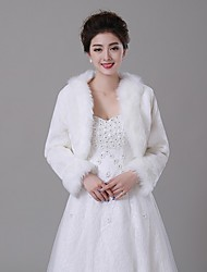 cheap -Faux Fur Wedding Fur Wraps Fur Coats Coats/Jackets Elegant Style