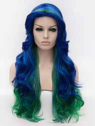 cheap -Europe selling multicolor streaked long hair wig cosplay wig party wig Halloween wig