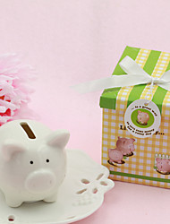 Lovely Piggy Ceramic Bank Classic Style Wedding Party Favors&Gifts