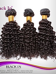 "cheap -3 Pcs Lot 12""-30"" Brazilian Kinky Curl Wefts Natural Black Remy Human Hair Weave Tangle Free"
