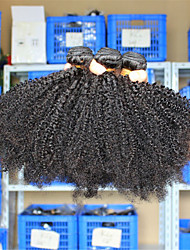 cheap -3 Pcs/Lot 10-26 Eurasian Virgin Hair Afro Kinky Curly Human Hair Weave Bundles Tangle Free