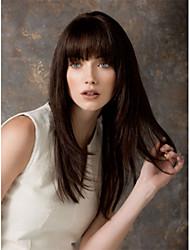 hochwertige capless langen gewellten Mono top reine remy Menschenhaarperücken 7 Farben zur Auswahl